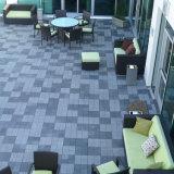 Tuile de verrouillage d'ardoise de toit enduit gris foncé normal rustique de pierre