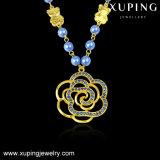 Конструкция 43290 способов самая последняя отбортовывает ожерелье при Gold-Plated цветок