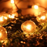 25FT G40 Bulbe Globe String Lights avec ampoules transparentes