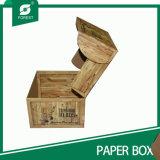 Papel de alta calidad caja de embalaje con tapa de embalaje de bosque (009)