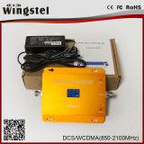 2017 LCD를 가진 최신 판매 Dcs/3G 1800/2100MHz 듀얼-밴드 승압기