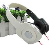 Receptor de cabeza ajustable con el auricular lindo de los teléfonos de la pista de la marca de fábrica de encargo y del teléfono cuadrado del receptor de cabeza de los gatos de Earpads dos