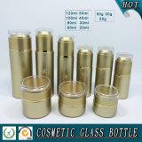 Constructeurs cosmétiques en verre de choc de bouteille de lotion et de crème de face