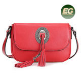 Le sac à main le plus neuf de cuir véritable de modèle avec des sacs d'épaule de Crossbody de décoration de gland pour les femmes Emg4914