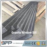 Peitoril escuro do indicador do granito de G654 Padang com superfície & granito inflamados do chanfro