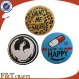 Оптовая торговля офсетной печати круглый значок дешевые Custom металлические кнопки значок