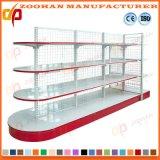 金属のスーパーマーケットの記憶装置のコーナーの棚の陳列台の棚付け(Zhs27)