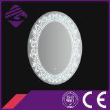 Jnh226 Inicio de la venta caliente oval muebles de baño espejo con el reloj