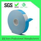Doppio nastro adesivo acrilico parteggiato bianco della gomma piuma con la fodera blu