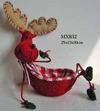 Decoración de Navidad - Moose canasta (MX832)