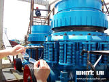 기계 콘 쇄석기 Wlc1160를 분쇄하는 Lai 백색 돌 바위