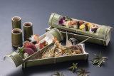 Umweltfreundliches haltbares Melamin-Bambusgefäß-Bambusplatte für Sushi