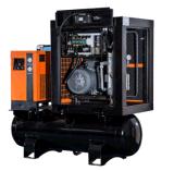 tipo inmóvil combinado 7-12bar compresor de aire con el receptor y el secador