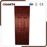 piel moldeada HDF de la puerta de la chapa de la teca de 4.0m m con alta calidad