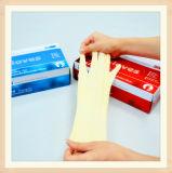 Перчатки экзамена качества еды Milky белые резиновый