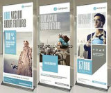Simple face, double Conception personnalisée Roll up Banner Stand escamotable