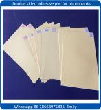 Hoja adhesiva echada a un lado doble interna rígida blanca del PVC para el álbum de foto