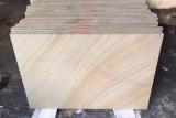 Revestimiento de pared de piedra arenisca de madera de teca