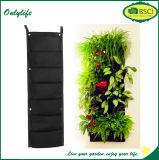 Planteur vertical de mur de décoration de jardin d'Onlylife avec les poches multi