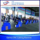 金属板そして鋼板のためのガントリーCNC血しょう切断の斜角が付く機械