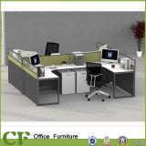 간단한 작풍 4 시트 똑바른 사무실 테이블 분할 워크 스테이션