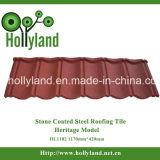 Камень покрытие стального листа крыши (классическое оформление)