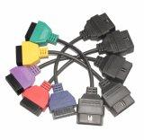para los colores de diagnóstico del cable cinco del OBD de los adaptadores de la exploración de AUTORIZACIÓN EL ECU