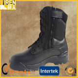 De zwarte Echte Tactische Laarzen van de Militaire politie van de Schoenen van de Veiligheid van het Leer Goedkope