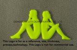 Trois Dimenssional (3D) Logo de transfert de chaleur en silicone
