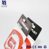 Paquete de insertar tarjetas de PVC colorido estuche para el envasado de linterna eléctrica