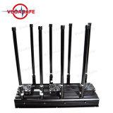 Ecológica de alta potencia Jammer ocho bandas de interferencia para CDMA/GSM/3G2100MHz/4glte celular/2.4G WIFI/Bluetooth/walkie-talkie