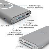 10000mAh bateria recarregável Carregador de Banco de energia móvel sem fio