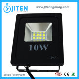 細い屋外ライト10W高い発電LEDのフラッドランプ