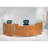 Moderner chinesischer Fabrik-Großverkauf und Qualität gebogener Edelstahl-und Holz-Büro-Tisch, Büro-Empfang-Schreibtisch (SZ-RT042)