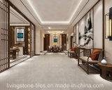 De lichtgrijze Volledige Marmeren Tegel van het Exemplaar van het Lichaam voor Openbare Vloer