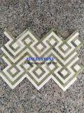 Mosaicos de mármore branco hexagonal de mosaico em mármore para banheiro Hotel decorativos de parede