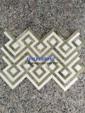 Baldosas mosaico de mármol blanco hexagonal mosaico de mármol para baño de pared decorativos Hotel