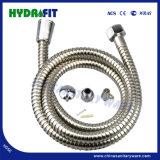 Double verrou Ss poli douche intérieure en PVC flexible de tube (HY6018)