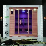 Klassische weites Infrarot-Sauna für den 4 Personen-Gebrauch mit kombinierter Infrarotheizung, trockener Bad-Sauna-Raum als Gesundheit, die Maschine schwitzt
