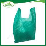 La coutume d'épicerie réutilisables en plastique biodégradable T-Shirt sacs