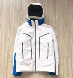 La mode hommes imperméable veste de ski d'usure de la neige blanche