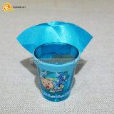 50ml gepersonaliseerd Ontsproten Glas met de Kaap van de Kleur en de Band van het Silicone