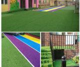 Bi-Color Confortável Turf Lawn Futebol de futebol artificial