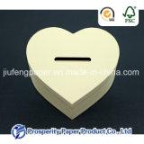 Papel en forma de corazón Caja