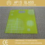 Vidro impresso de vidro da impressão resistente elevada da temperatura tela de seda com bordas Polished