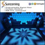 Bewegliche Tanz-Bodenbelag-Fliesen LED-Digital für Disco-Partei-Dekoration-Beleuchtung