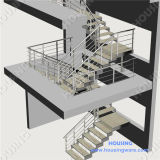 Rod Balustrade를 가진 유행 Design Industrial Steel Staircase