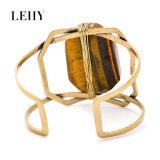 Sentido original chapeado da forma Anti-Ouro de pedra natural do bracelete do projeto