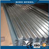 Couleur PPGI Tôle d'acier / tuile métallique en tôle ondulée ondulée