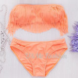 Reizvoll Troddel-Frauen-Badebekleidungs-Badeanzug-Bikini hochdrücken